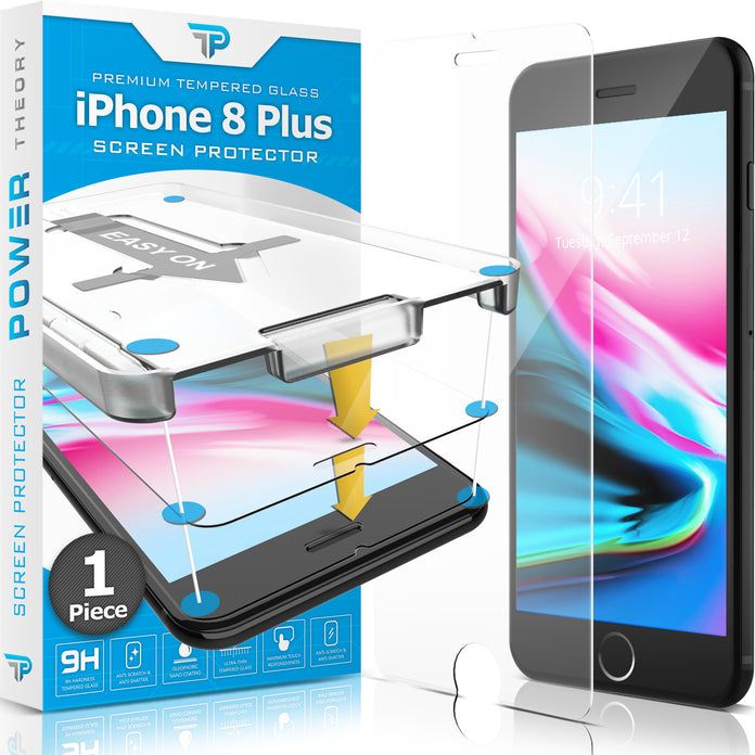 Power Theory Panzerglasfolie Passend für iPhone 8 Plus (1 stück)
