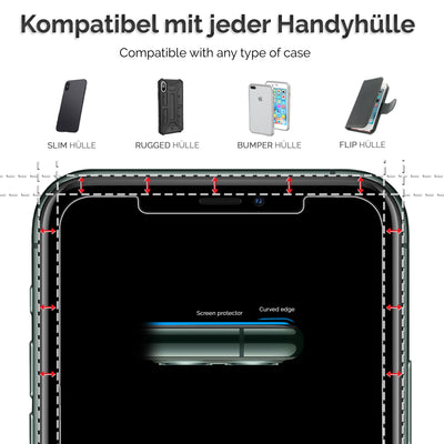 Power Theory Panzerglasfolie Passend für iPhone 11 Pro