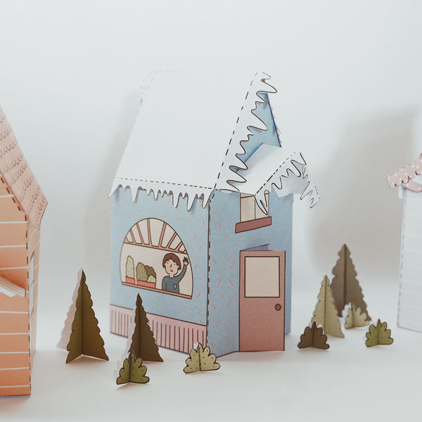 Descargable casitas de papel