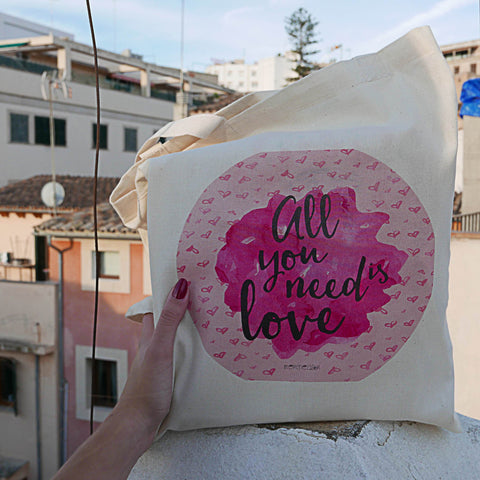 Bolsa de tela - All you need is love