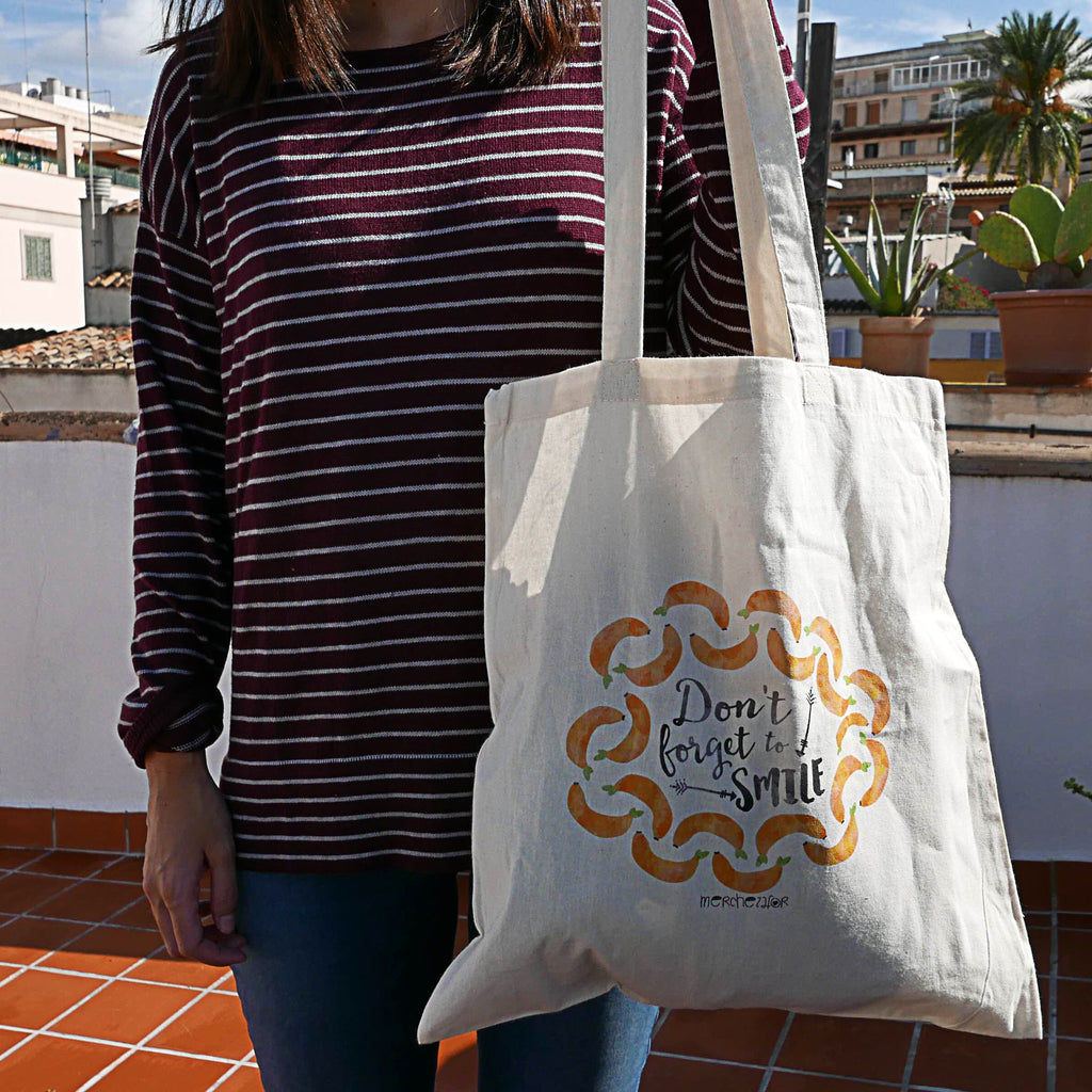 Bolsa de tela - Don't forget to smile