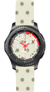 Watch Face Samsung Gear S3 Frontier - Classic - S2 design Cotton Beige Dots - Bandsforwatches