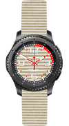 Watch Face Samsung Gear S3 Frontier - Classic - S2 design Cotton Sand - Bandsforwatches