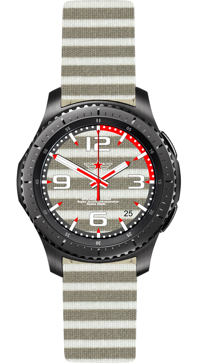 Watch Face Samsung Gear S3 Frontier - Classic - S2 design Cotton Beach - Bandsforwatches