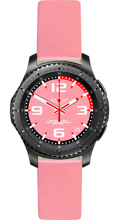Watch Face Samsung Gear S3 Frontier - Classic - S2 design Fashion Pink - Bandsforwatches
