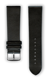 "French Leather ""Fashion"" watchband handmade in France. Color: Black - Bandsforwatches"
