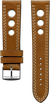 "Italian Luxury Leather ""Sellier"" ""O"" watchband handmade in France. Color: Brown"