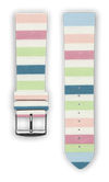 100% Cotton watchband with calf leather back. Design: Lollypop