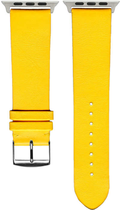 "French Leather ""Fashion"" watchband handmade in France. Color: Narcisse - Bandsforwatches"