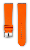 "French Leather ""Fashion"" watchband handmade in France. Color: Orange"