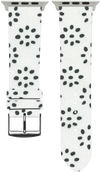 100% Cotton watchband with calf leather back. Design: Paw