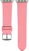 "French Leather ""Fashion"" watchband handmade in France. Color: Pink - Bandsforwatches"