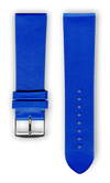 "French Leather ""Fashion"" watchband handmade in france. Color: Royal"