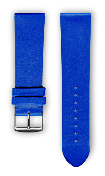 "French Leather ""Fashion"" watchband handmade in france. Color: Royal - Bandsforwatches"