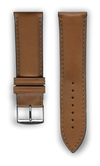 "Italian Luxury Leather ""Sellier"" watchband handmade in France. Color: Brown - Bandsforwatches"