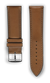 "Italian Luxury Leather ""Sellier"" watchband handmade in France. Color: Brown"