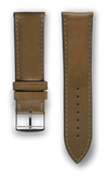 "Italian Luxury Leather ""Sellier"" watchband handmade in France. Color: Honey"