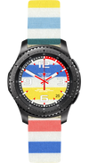Watch Face Samsung Gear S3 Frontier - Classic - S2 design Cotton Iris - Bandsforwatches