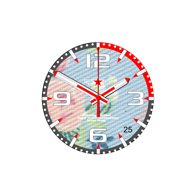 Watch Face Samsung Gear S3 Frontier - Classic - S2 design Cotton Flowery - Bandsforwatches