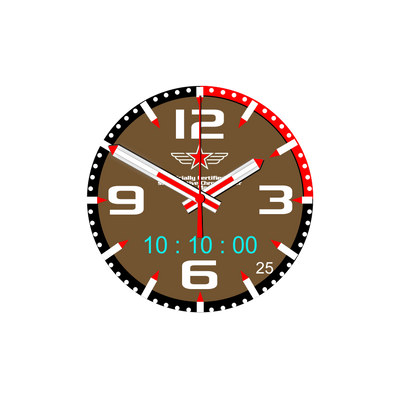 Watch Face Samsung Gear S3 Frontier - Classic - S2 design Sellier Brown - Bandsforwatches