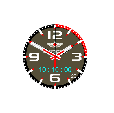Watch Face Samsung Gear S3 Frontier - Classic - S2 design Sellier Kaki - Bandsforwatches