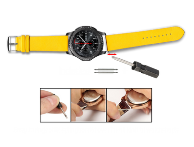 100% Cotton watchband with calf leather back. Design: Beach - Bandsforwatches