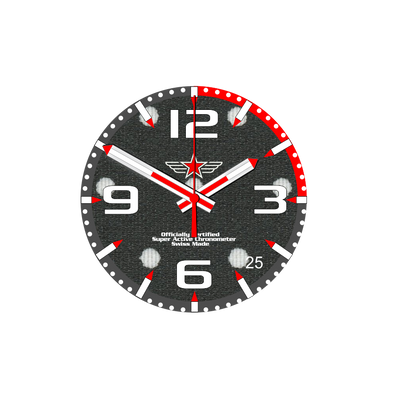 Watch Face Samsung Gear S3 frontier - Classic - S2 design Cotton White Dots - Bandsforwatches