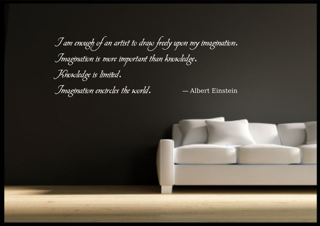 Einstein Imagination Wall Quote WSD466
