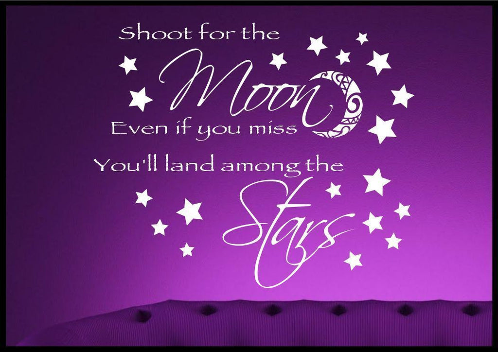 Moon Stars Wall Quote WSD397