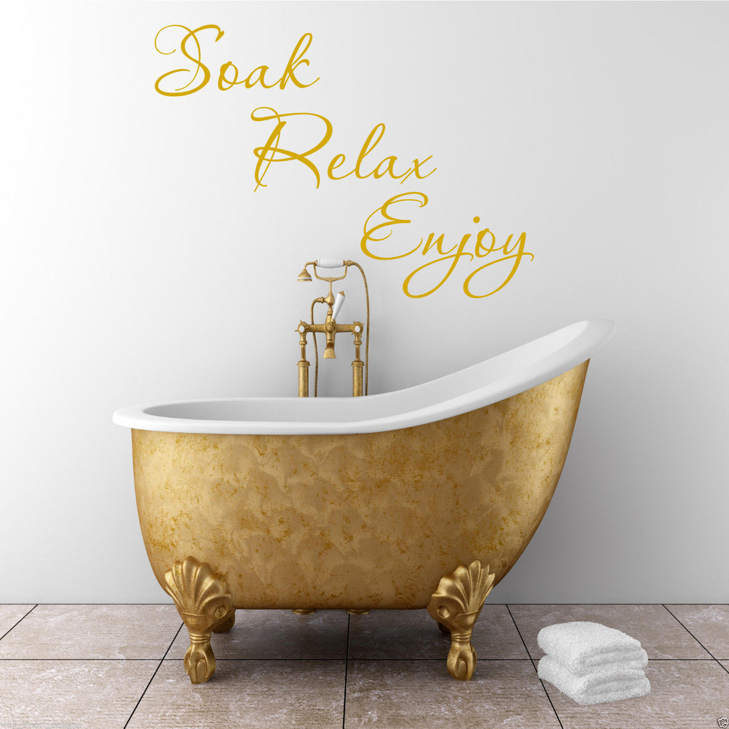 Soak Relax Enjoy Bathroom Wall Quote WSD592