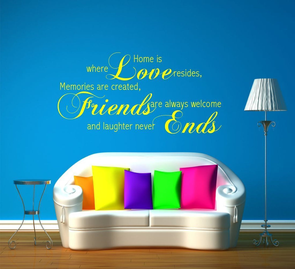 Love Friends Ends Wall Quote WSD507