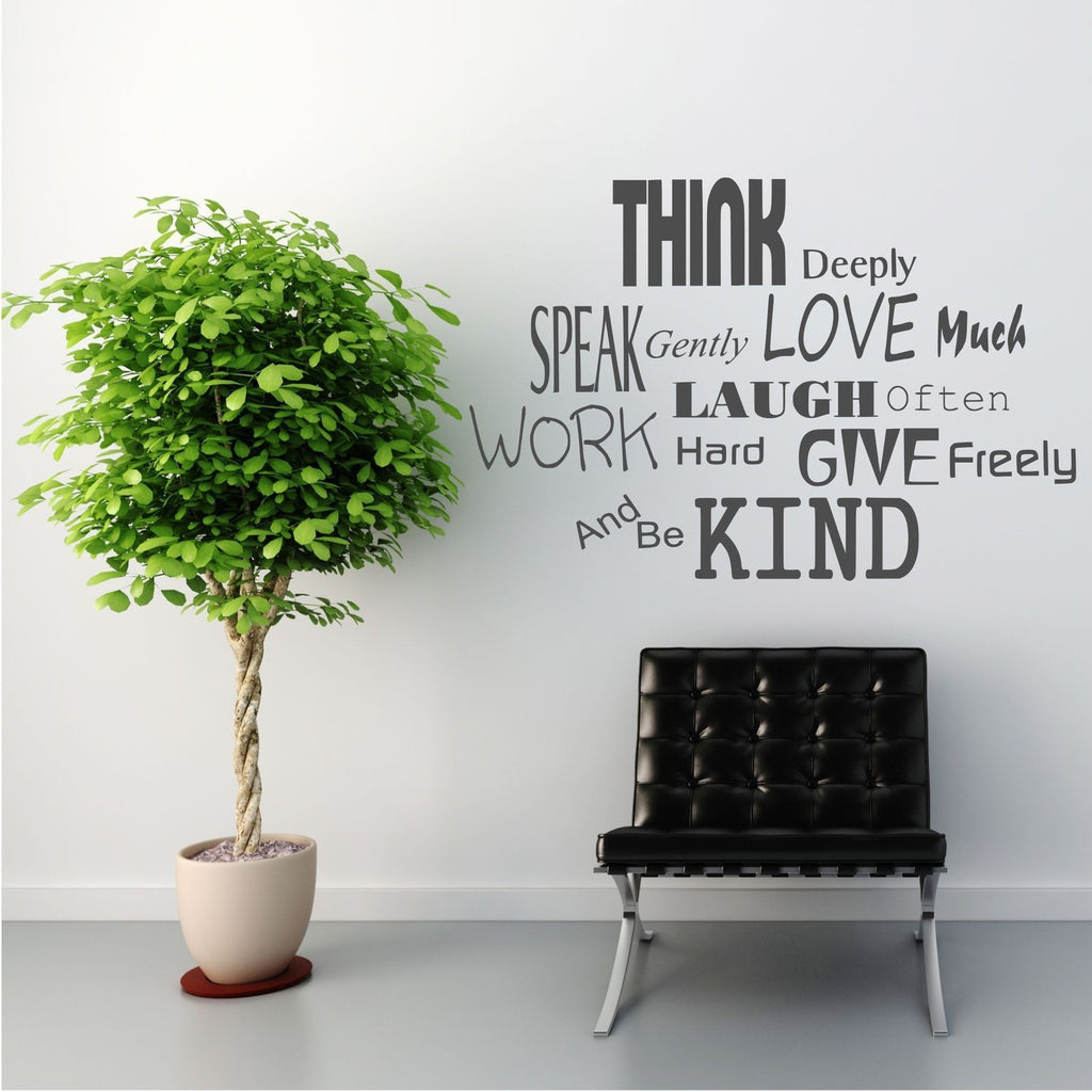 Think Speak Love Laugh Wall Quote WSD432