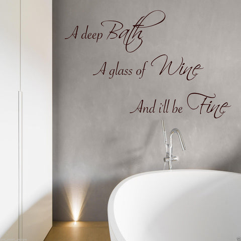 Bath Wine Wall Quote WSD391