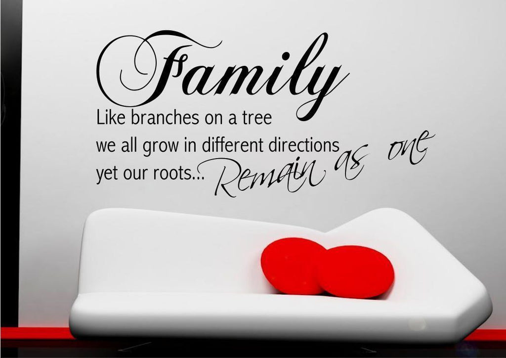 Family Roots Wall Quote WSD478
