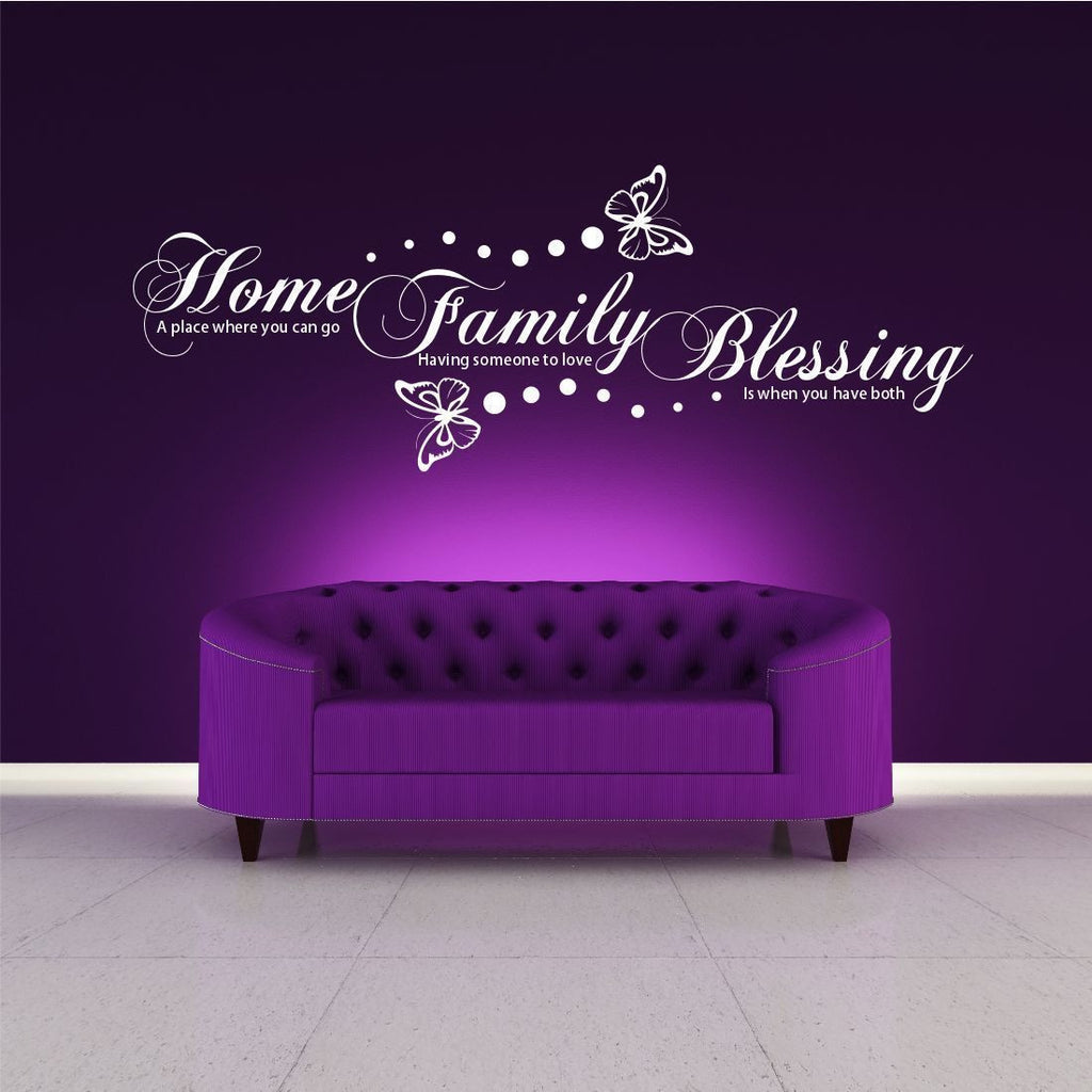 Home Family Blessing Wall Quote WSD376