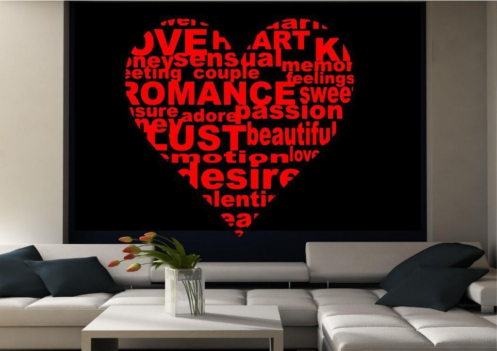 Love Heart Words Wall Quote WSD443