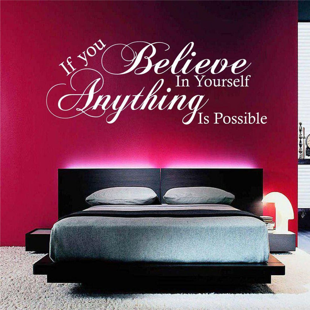 Believe in Yourself Wall Quote WSD449