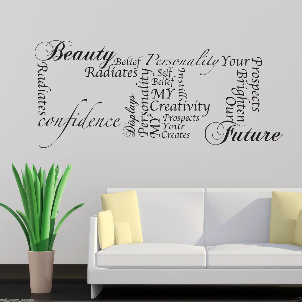 My Beauty Our Future Wall Quote WSD527