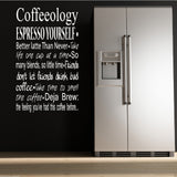 Coffee Coffeeology Wall Quote WSD460
