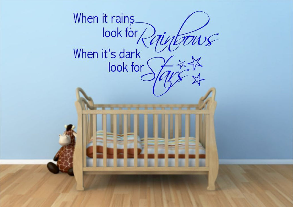 Rainbow Stars Wall Quote WSD382