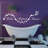 Relax Refresh Renew Wall Quote WSD662