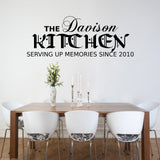 Personalised Kitchen Memories Wall Quote WSD530