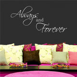 Always And Forever Wall Quote WSD371