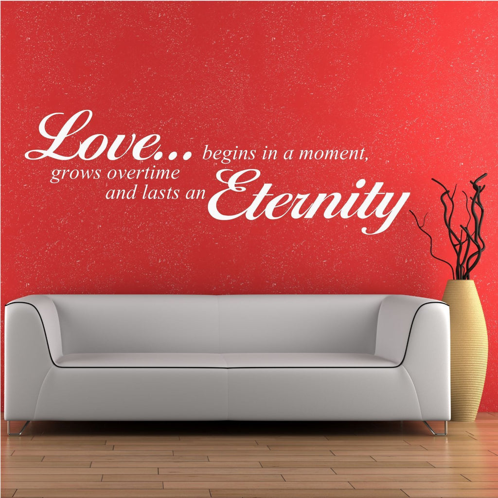 Love Eternity Wall Quote WSD508
