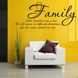 Family Like Branches on A Tree Wall Quote WSD511