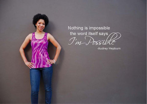 Audrey Hepburn Wall Quote WSD398