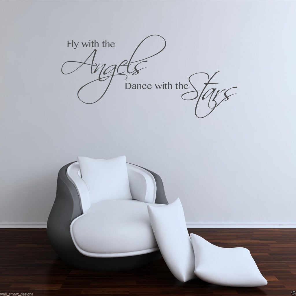 Angels Stars Wall Quote WSD392