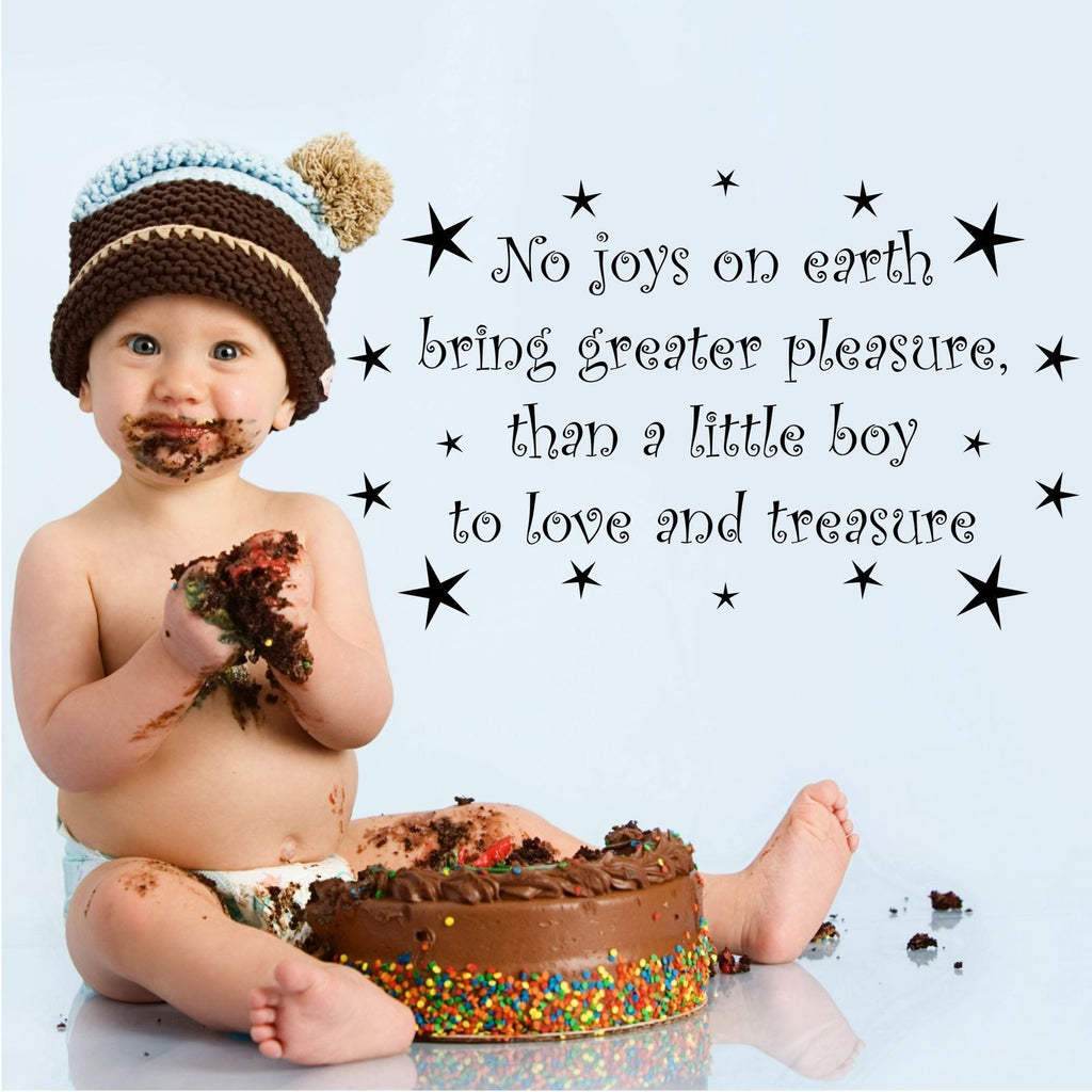 Little Boy To Love and Treasure Wall Quote WSD441