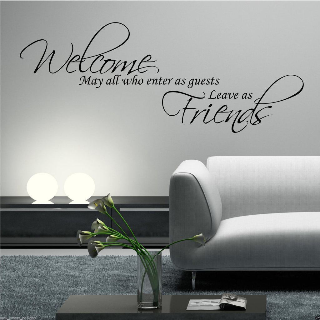 Welcome Quests Friends Wall Quote WSD601