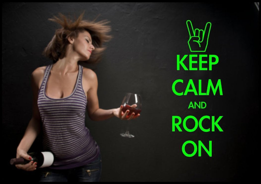 Keep Calm And Rock On Wall Quote WSD470